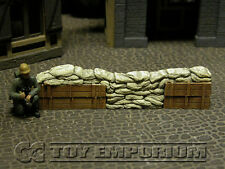 """""""RETIRED Build-a-Rama 1:32 Hand Painted Deluxe Sandbag Barricade Wall Section #2"""