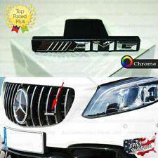 AMG Front Grille Emblem Panamericana Radiator Chrome Badge Mercedes C63 S63 GT63