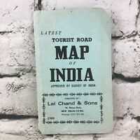 Latest Tourist Road Map Of India Collectible Vintage 1990