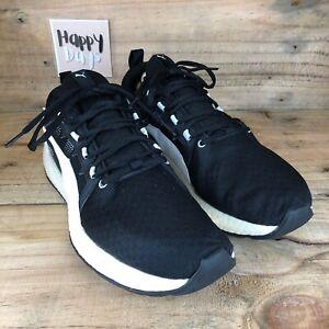 Puma NRGY Neko Turbo Mens Black/White Running Gym Trainers Shoes Size UK9 EU43