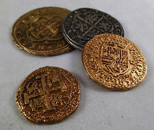 Set of 4 Mixed Spanish Armada Gold/Silver Doubloons -Coins/Pirates/Treasure/Gift