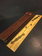 Vintage Nautical Map Ruler, Capt. Field's Improved English Make 1940 Leather SH2