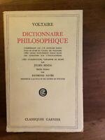 Voltaire. Dictionnaire philosophique. Edition de 1954.