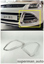ABS Chrome Front Fog Lamp Light Cover Trim For Fits Ford Escape Kuga 2013-2016