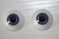 22 mm Purple Reborn Baby Dolls Acrylic Eyes Half Round Dolls Accessories FD04