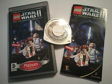 SONY PSP PORTABLE PLAYSTATION GAME LEGO STAR WARS II THE ORIGINAL TRILOGY