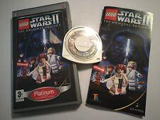 Sony PSP jeu portable Playstation Game lego star wars II the original trilogy