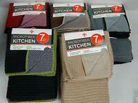 Graydon Hall 7 Pc Kitchen Set Towels DishCloths Scrubbers Sponge Color Choice