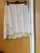 LYSGAARD Ladies Shabby Chic Short Skirt Size Meduim Striped With A Frills