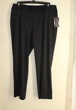 NWT Zac and Rachel Women Slim Stretch PANTS Size 3X Black Wide Elastic Waist $68