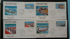 fishing ships harbour fish set of 4 FDC Cameroon 80731