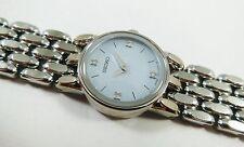 Seiko SUJ353 Silver Tone Stainless 1N00-0EG8 W/ Gems Sample Watch NON-WORKING