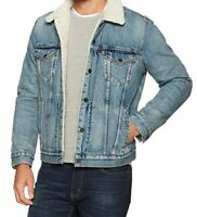 Levis Sherpa Denim Men's Trucker Jacket Mustard Blue Levi's 0044