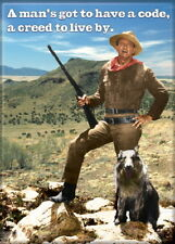 John Wayne A Man's Got To Have A Code To Live By Western Photo Magnet NEW UNUSED