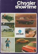 Chrysler Showtime 1972 Earls Court gama folleto ** Post UK Libre **