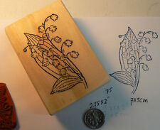 P21  Lily of the Valley flower rubber stamp WM 2.5x1.8""