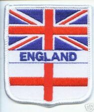 ENGLAND UNION JACK & ST GEORGES CROSS FLAG PATCH BADGE