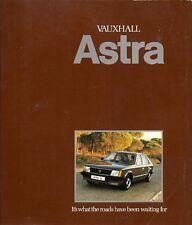 Vauxhall Astra Mk1 1980 UK Market Sales Brochure GL Hatchback L Estate