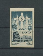 MONACO ANNO SANTO 1950 PROBEDRUCK UNGEZÄHNT PROOF IMPERF! KOLOSSEUM ROM d950
