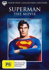 Superman-The Movie-DVD (4-Disc Set) Christopher Reeve-Gene Hackman-Marlon Brando