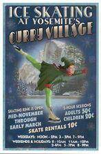 Ice Skating at Curry Village Yosemite National Park California - Modern Postcard