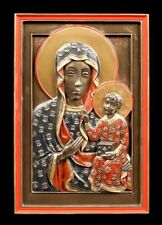 RELIEF MURAL icône - noires MADONNA de Częstochowa - MARIA IMAGE VERONESE