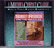 SMOKEY ROBINSON & MIRACLES Great Songs Motown 25th Anniversary TV Special CD 60s