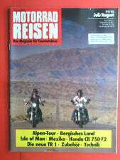 Motorrad Reisen , 7/8 `82  , Yamaha TR 1 , Honda CB 750 F2