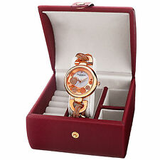 Women's Akribos XXIV AK895RG-BX Diamond Twist Chain Watch & Jewelry Gift Box Set