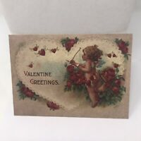 Vintage Postcard Valentines Greetings Hallmark Printed In Germany