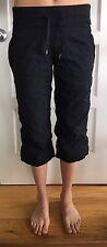 LULULEMON Size 6 Studio Crop Black Yoga Pants Dance Crops Wunder