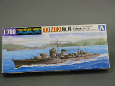 Aoshima 1/700 Japanese Navy Destroyer AKIZUKI  Water Line Model Ship Kit #d3