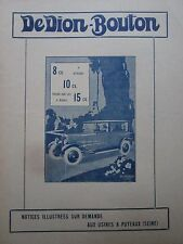 5/1926 de dion automobile pub button puteaux the 8 10 15 cv torpedo original ad