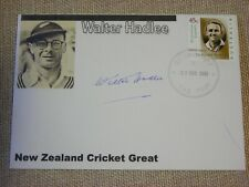 Autographed Envelope with Walter Hadlee, New Zealand Cricket Great