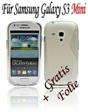 Samsung Galaxy S3 Mini GT-i8190 Silikonhülle in Transparent + Schutzfolie