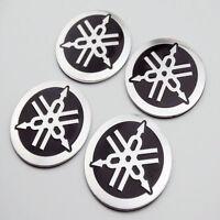 4X 40mm Petrol Tank Badge Fairing Emblem 3D Decal Sticker For Yamaha Racing Moto