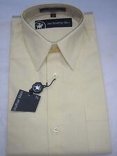 NWT Hart Schaffner Marx Boy's Cotton Dress Shirt - Solid Yellow  Sz 16
