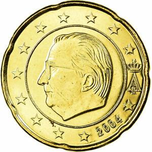 [#699653] Belgique, 20 Euro Cent, 2004, FDC, Laiton, KM:228