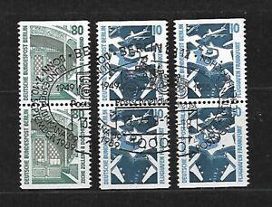 Berlin Nr. 796 C/D, 798 C/D, gestempelt, 3 senkrechte Paare