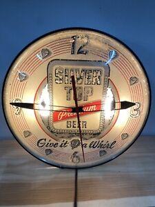 Silver Top premium Beer Pam Clock Duquesne Brewing Works vintage rare 1957
