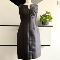 HOBBS Dress Size 10 GREY | SMART Occasion WEDDING Cruise Work RACES Office