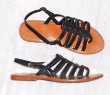 KOAH sandales tongs plates cuir noir P 39 TBE