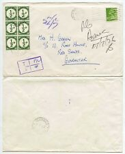 GIBRALTAR POSTAGE DUES GB MACHIN UNDERPAID 1976 FRANKED 8 1/2d CHARGE 1/2p BLOCK