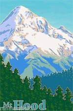 Mt. Hood Oregon United States of America Travel Art Advertisement Poster