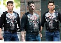 The Punisher Season 2 Jon Bernthal Black Leather Vest   ALL SIZES XXS - 3XL