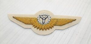 BUNDESWEHR Badge Activity Bordmechaniker IN Silver Hand Embroidered on White