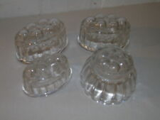 Vintage Glass Jelly Moulds X4