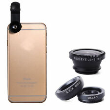 3 in 1 Fish eye Wide Angle Macro Clip On Camera Lens Zoom For iPhone 7 8 X XR XS