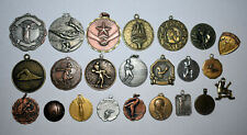 2. LOT OF 23 MIXED TYPE SPORTS MEDALS FROM HIGH SCHOOL, COLLEGE & OTHER GAMES