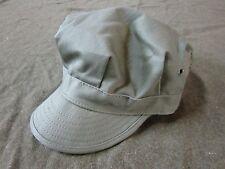 WWII US ARMY INFANTRY LIGHT GREEN HBT COMBAT FIELD CAP, SHORT BILL-MEDIUM